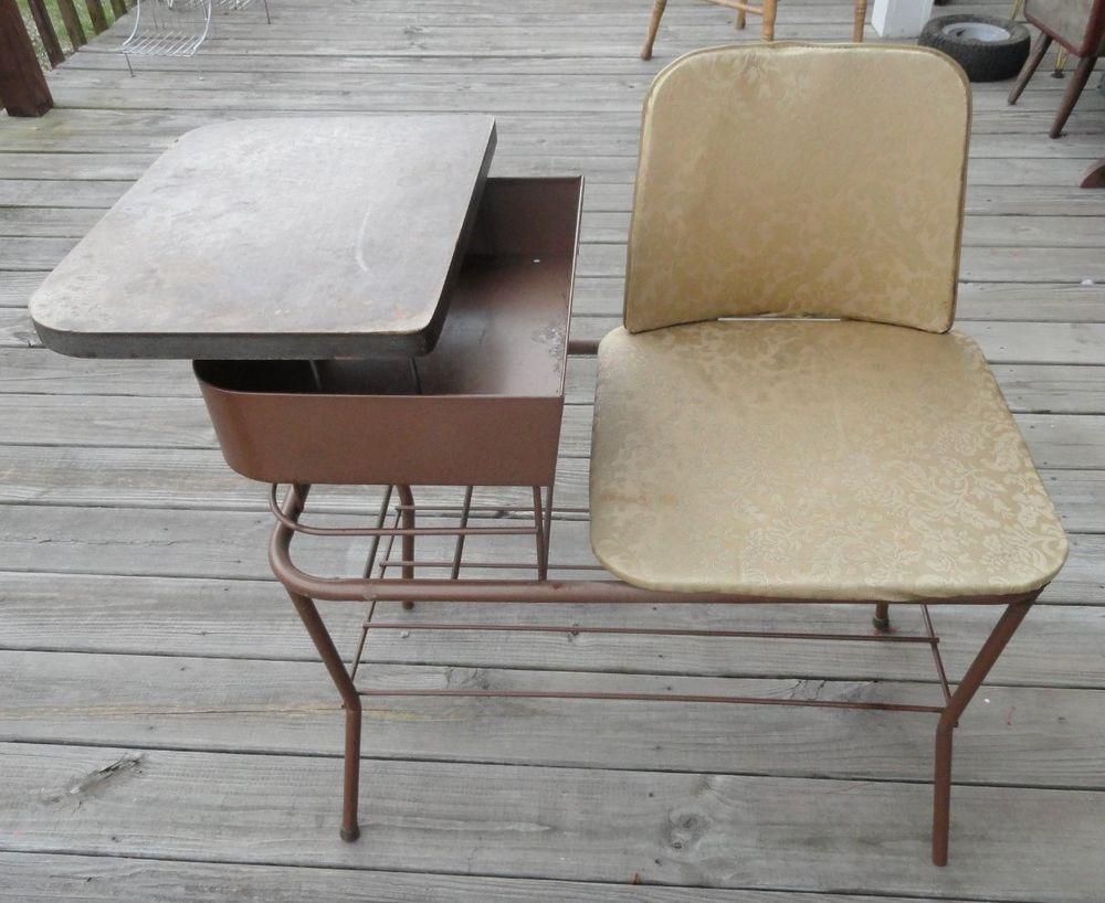 Mid Century Modern Atomic Retro 50s Eames Era Gossip Bench ...