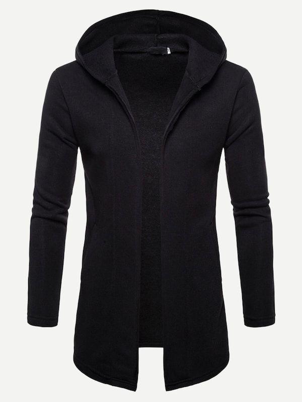 pipigo Men Vogue Top Slim Hooded Splice Pullover Sweatshirts