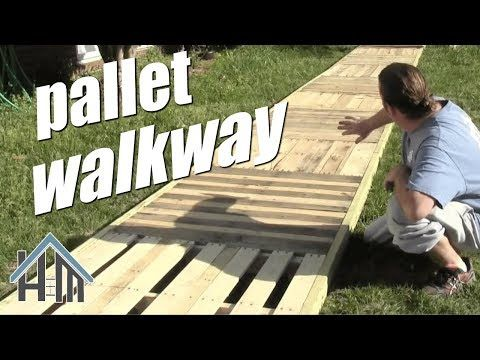How To Build Pallet Walkway Deck Sidewalk Easy Home Mender