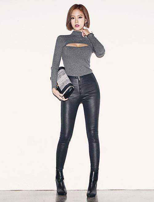 51866fce35 Korean Women's Fashion: Dabagirl   Stretch Tops   Calzas