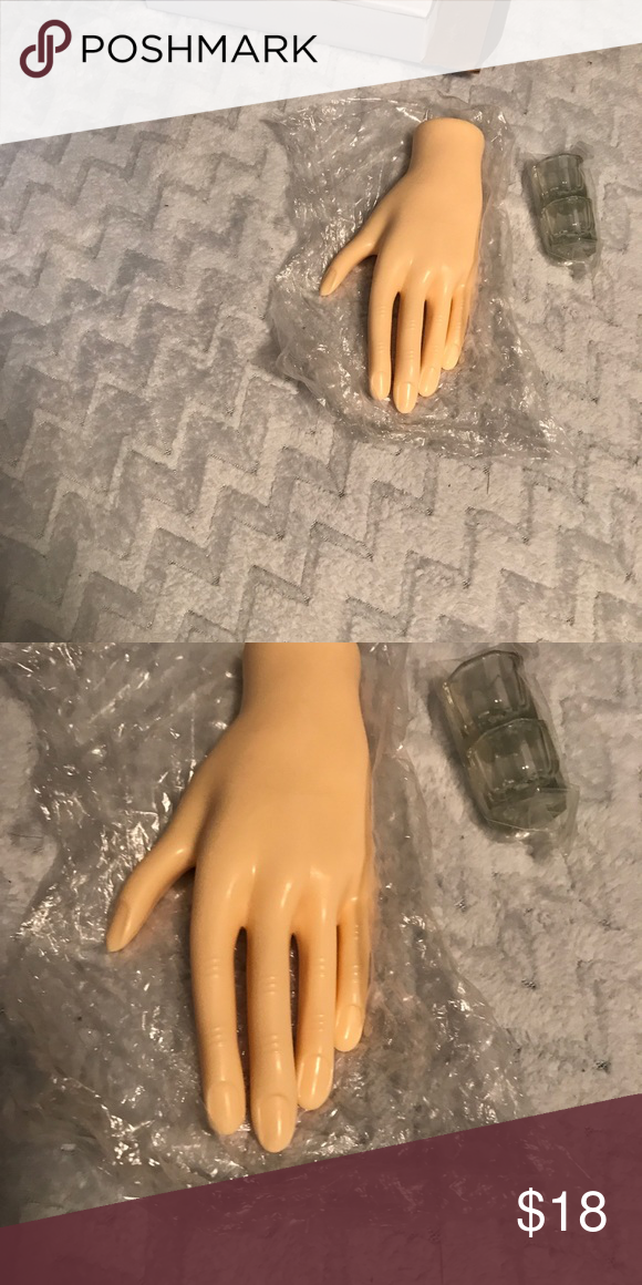 Acrylic nail set Includes mannequin hand and acrylic glasses(2 ...