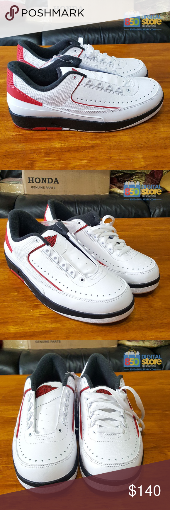 cheap for discount a0906 6cefd Nike Air Jordan Retro 2 II Low White Red Black NEW Air Jordan 2 II Retro