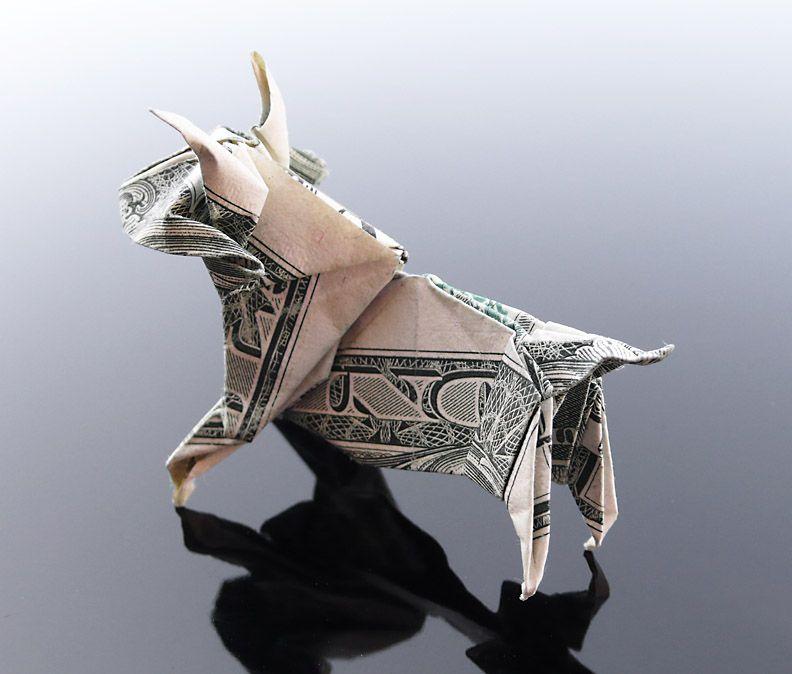 Dollar Origami Bull