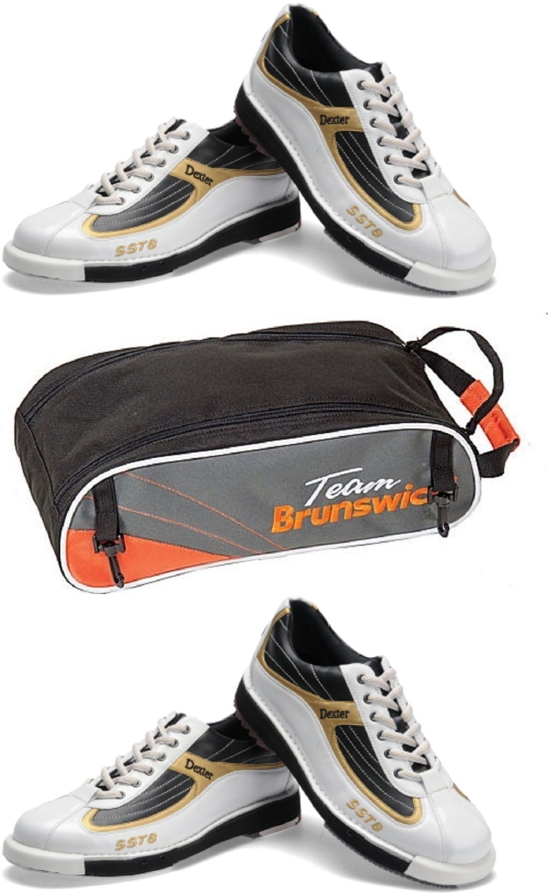 Men 159106 Mens Dexter Sst 8 Bowling Shoes And Brunswick Shoe Bag Size 10 1