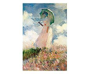 Stampa su tela Donna con il parasole - 60x90 cm