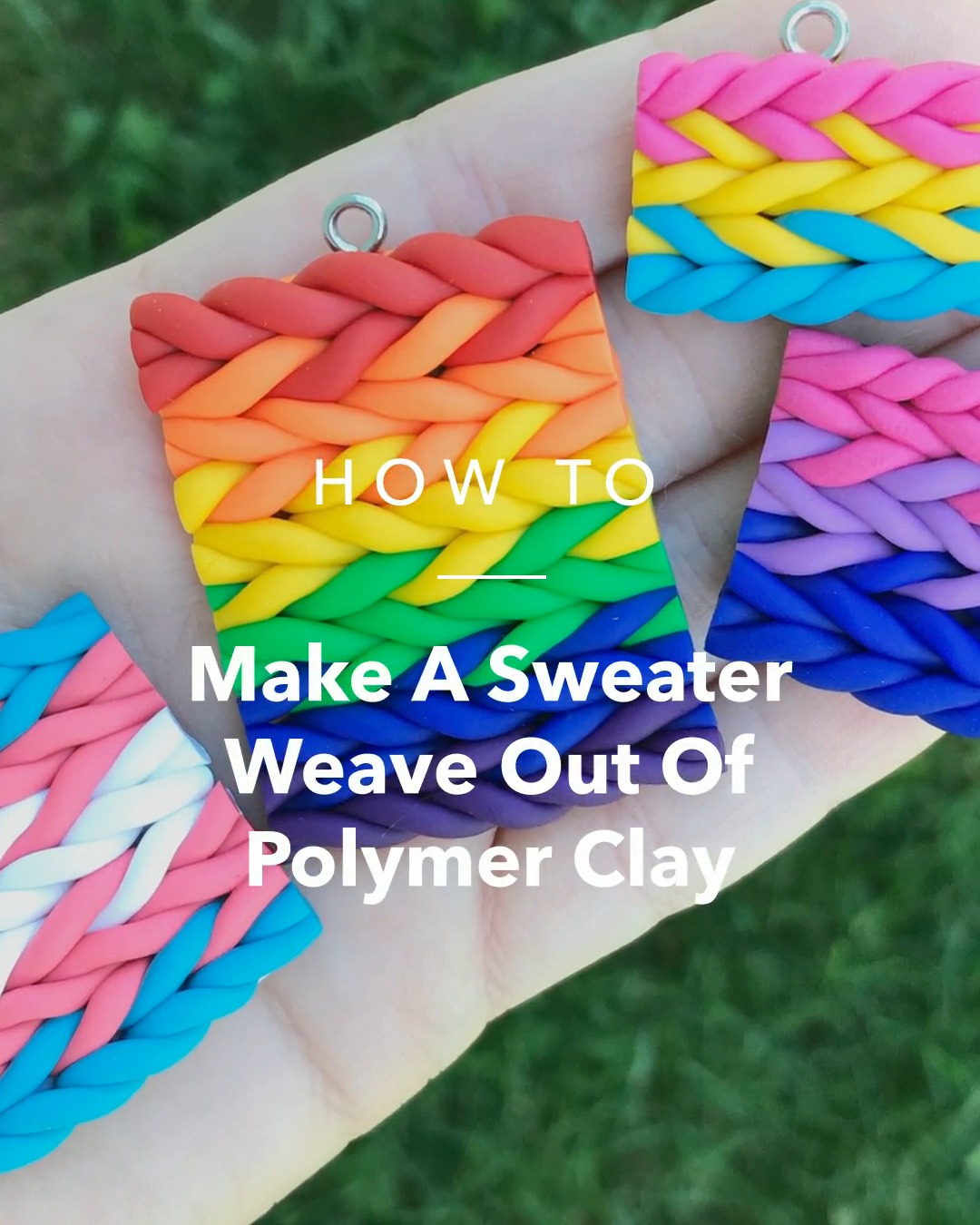 Photo of Make A Sweater Weave Out Of Polymer Clay