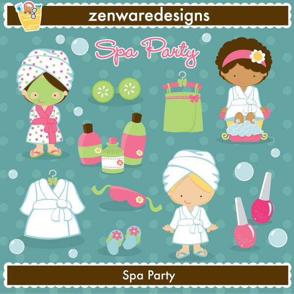 spa party graphics
