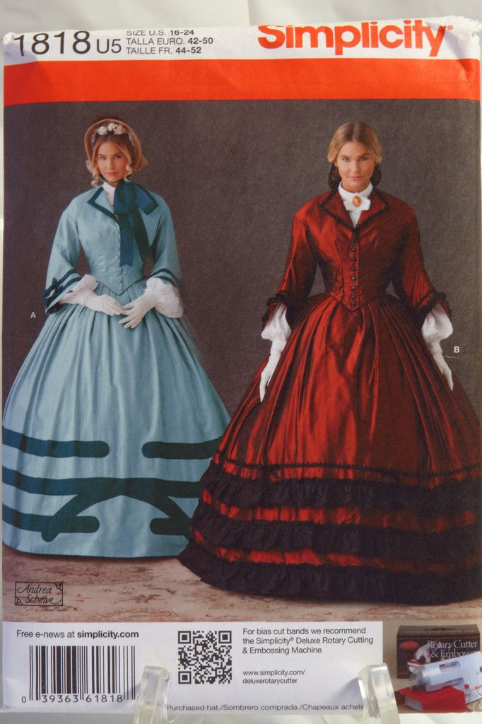 Simplicity 1818 Misses  Civil War Dress Costume  59d9d8e471e