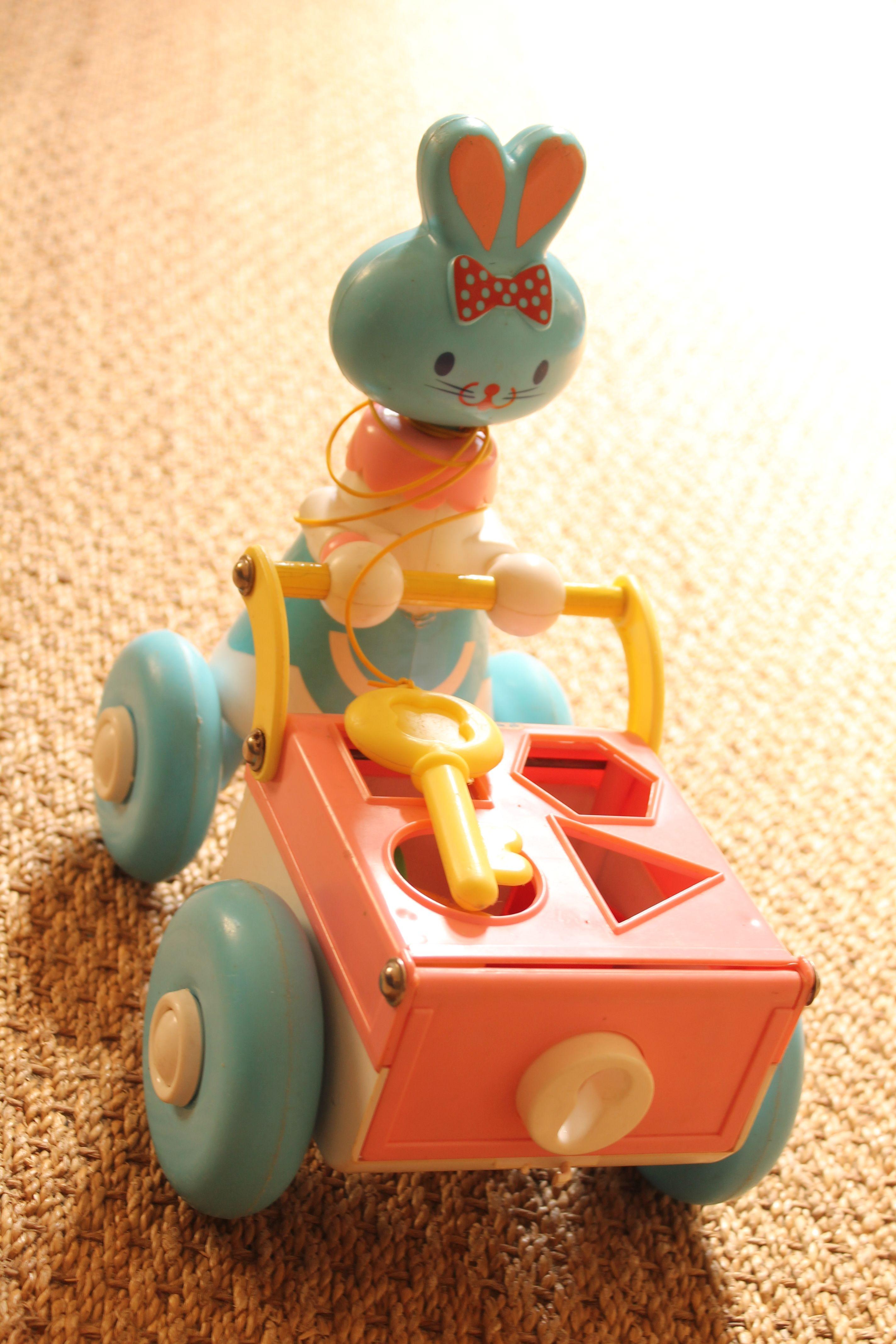 chariot boite  formes lapin Educalux vintage