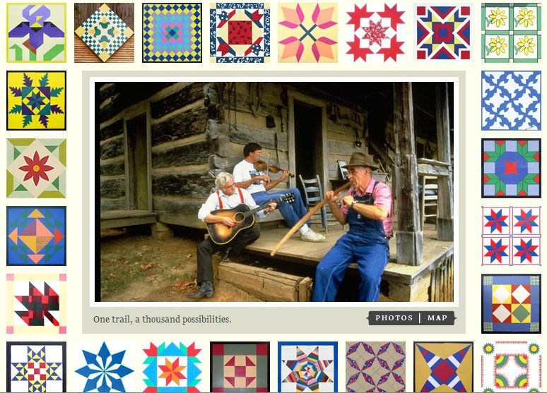 Many barn quilts in the border. Love the cabin! Wish I was there ... : appalachian quilts - Adamdwight.com