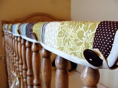 cloth crib rail guard~ Great idea!