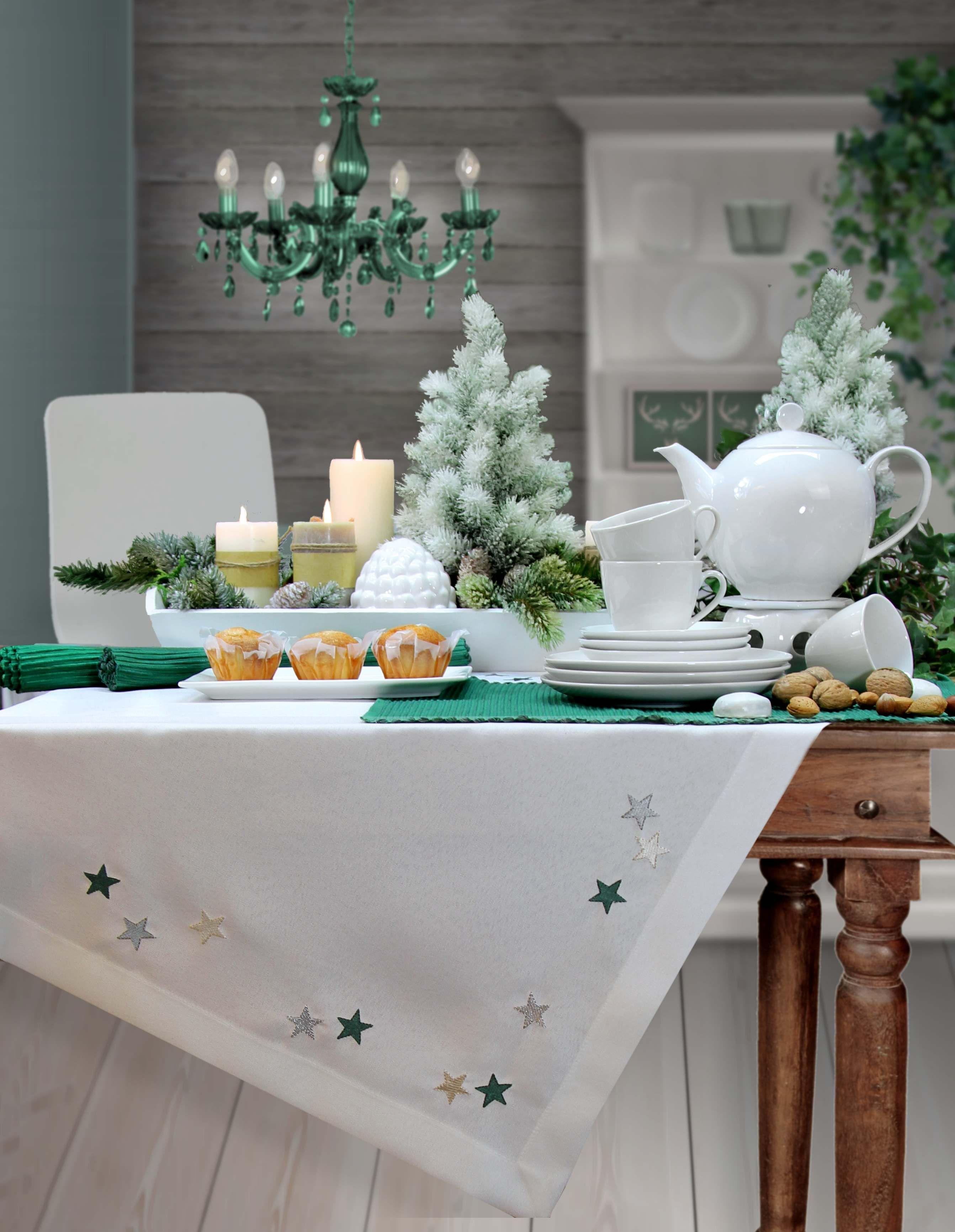 weihnachtstischdecke von sander x mas tischdecke n hen weihnachtstisch und deckchen. Black Bedroom Furniture Sets. Home Design Ideas