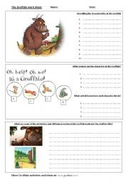 english teaching worksheets the gruffalo the gruffalo pinterest gr ffelo und englisch. Black Bedroom Furniture Sets. Home Design Ideas