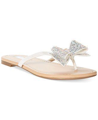 c8d0f89c0 INC International Concepts Women s Maey Bow Thong Sandals - Shoes - Macy s