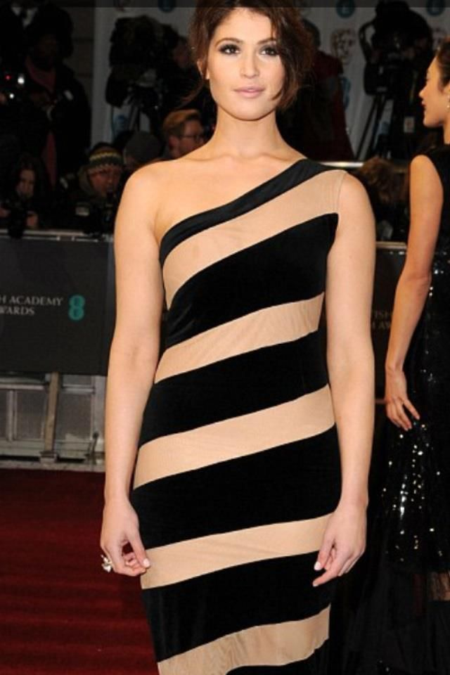 Black and Nude Stripped off the sholder dress