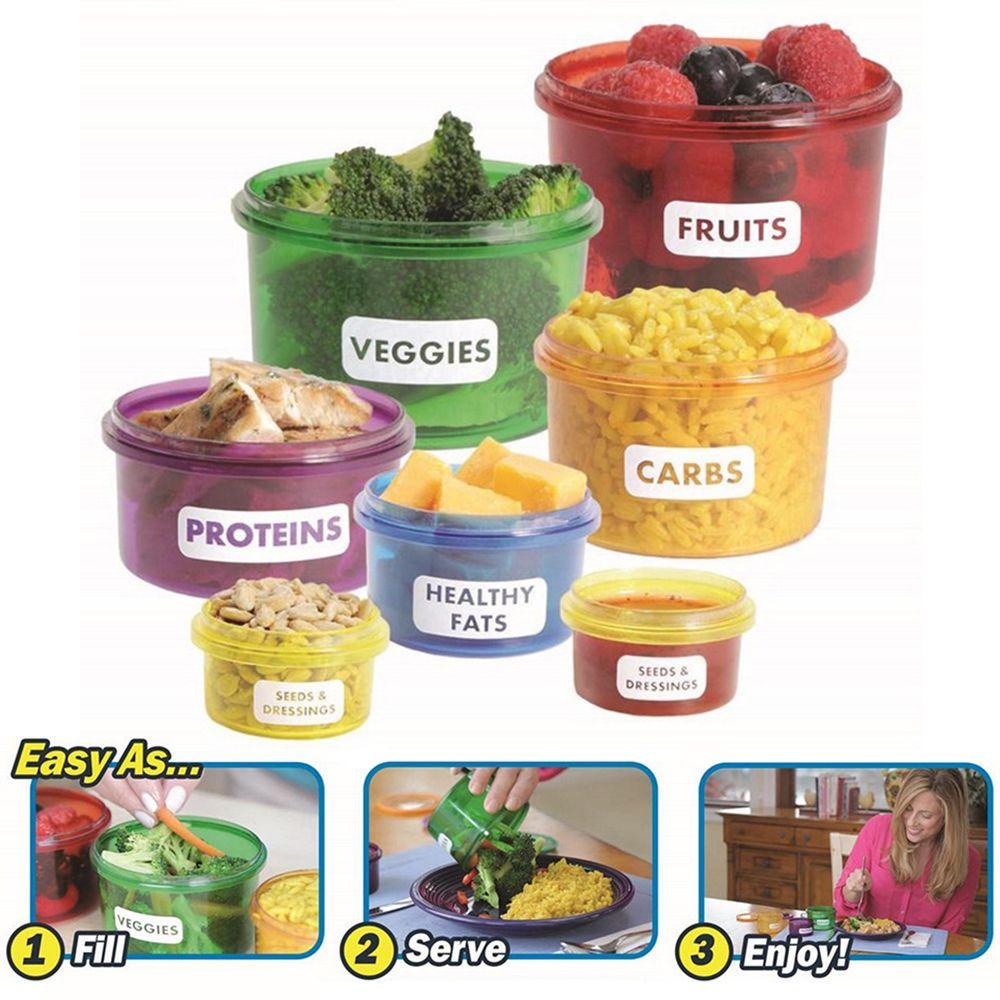 7Pcs set Portion Control Food Box Prep Storage Container Fitness Workout Meal Eating Plan Nutriton Bento  sc 1 st  Pinterest & 7Pcs set Portion Control Food Box Prep Storage Container Fitness ...