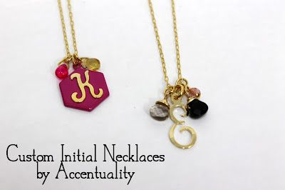 Custom Initial Necklaces by Accentuality $50
