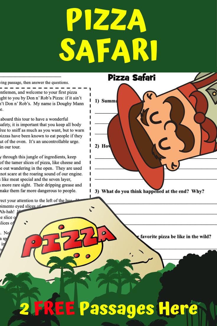 Free Pizza Safari Reading Comprehension Reading Comprehension Passages Reading Comprehension Comprehension Passage [ 1102 x 735 Pixel ]