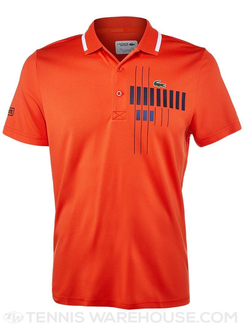 Lacoste Men s Novak Djokovic Chest Graphic Polo   Men s Tennis Wear ... 5cfd3e8088