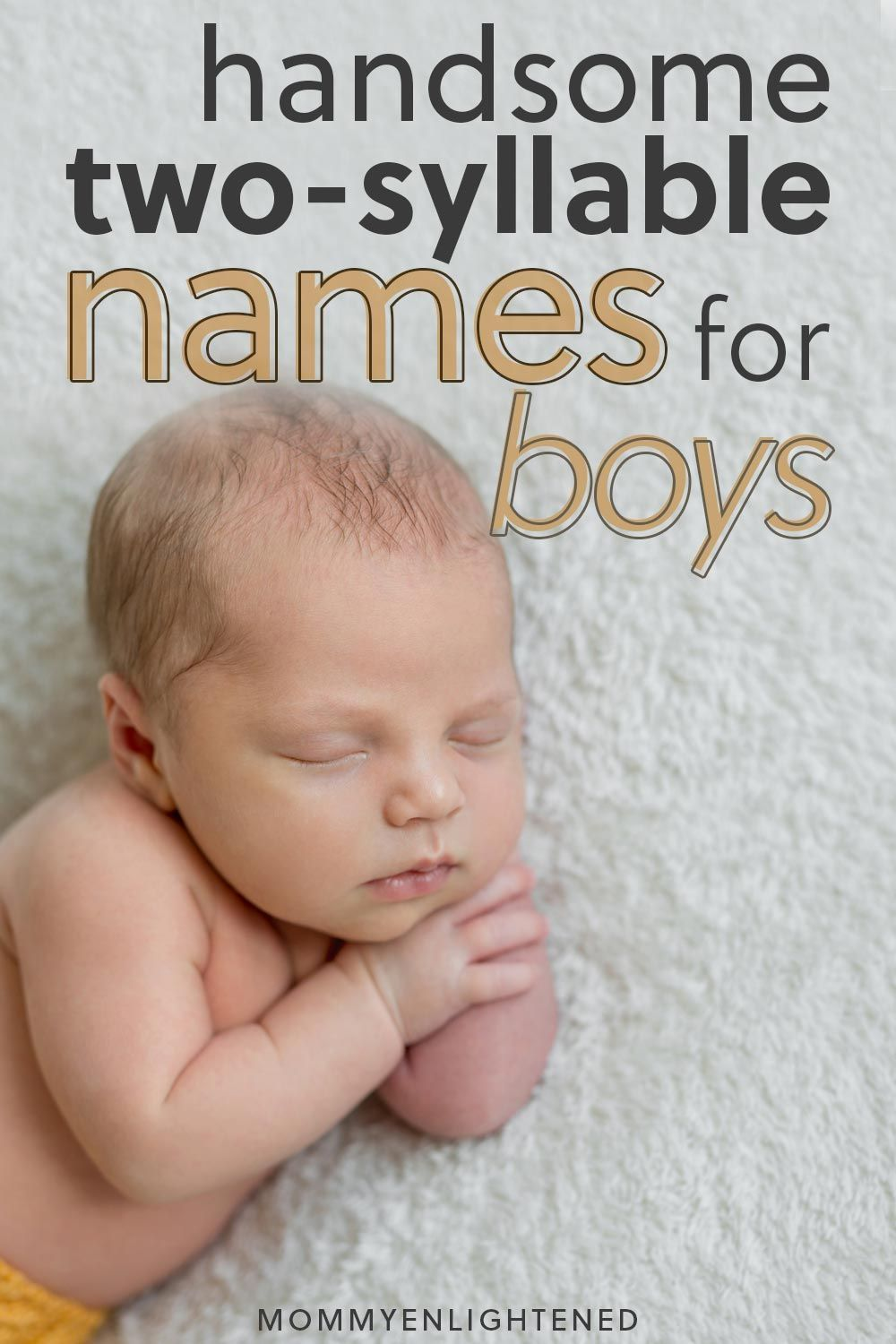 Handsome Two Syllable Boy Names (and meanings!) #babynamesboy