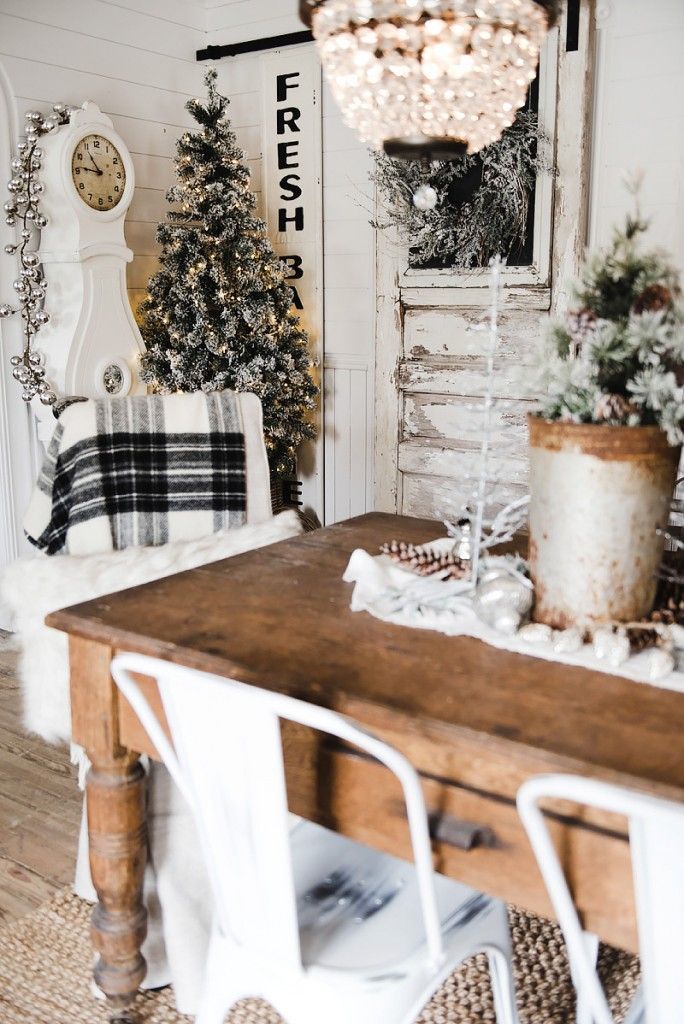 Dining Room Christmas Decorations rustic glam farmhouse christmas dining room | farmhouse christmas