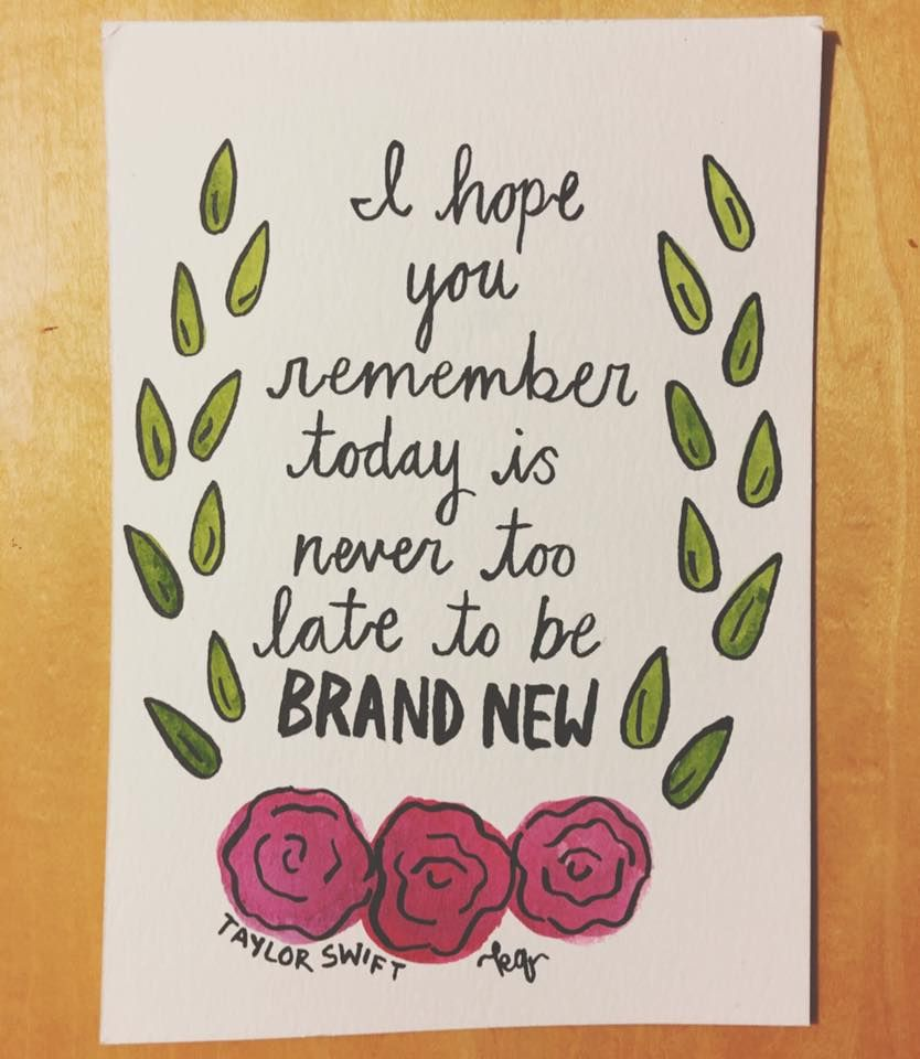 Taylor Swift Lyric Art By Kelsey Quitschau Twitter And Instagram