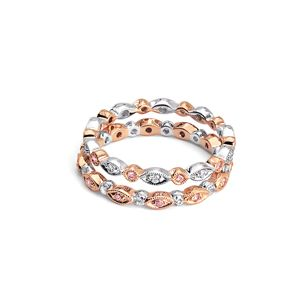 womens wedding rings rose gold and diamond wedding bands