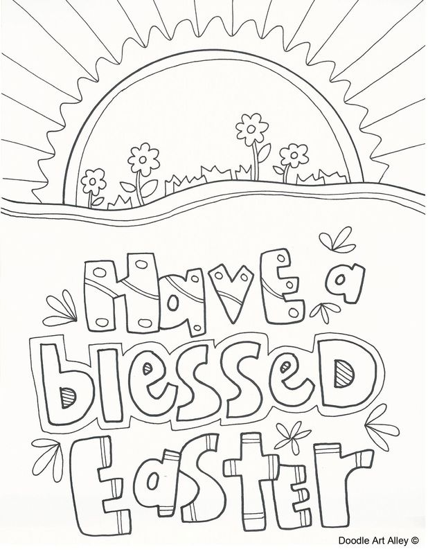 Religious Easter Coloring Page | Religious Doodles | Pinterest ...