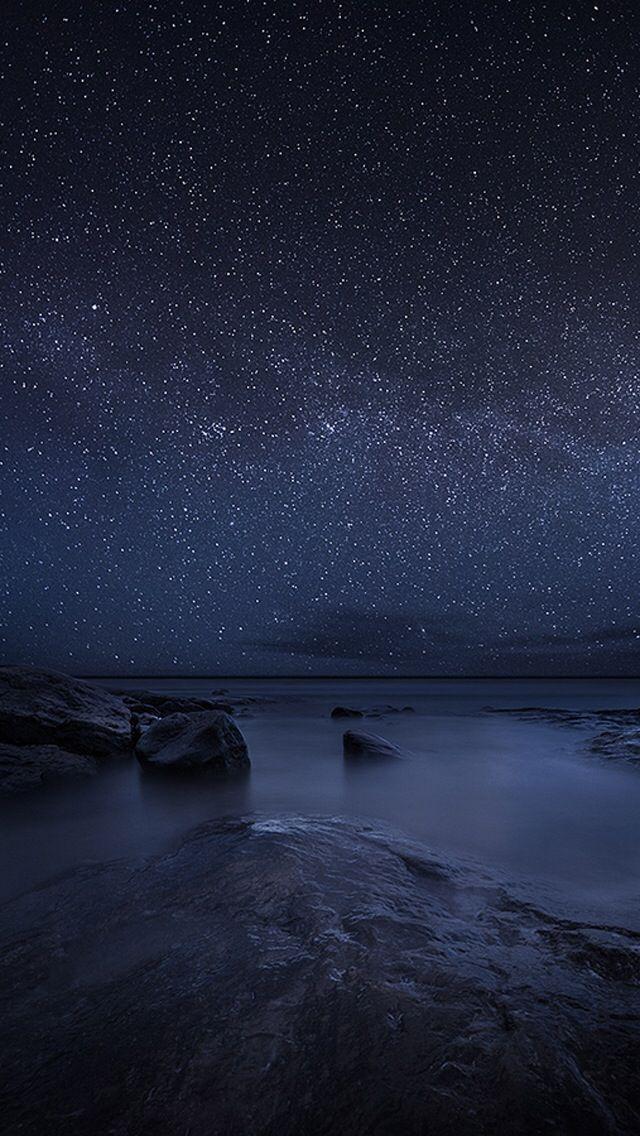 Starry Sky Night Lake Iphone 5s Wallpaper Night Sky Wallpaper Starry Night Iphone Wallpaper Starry Night Sky