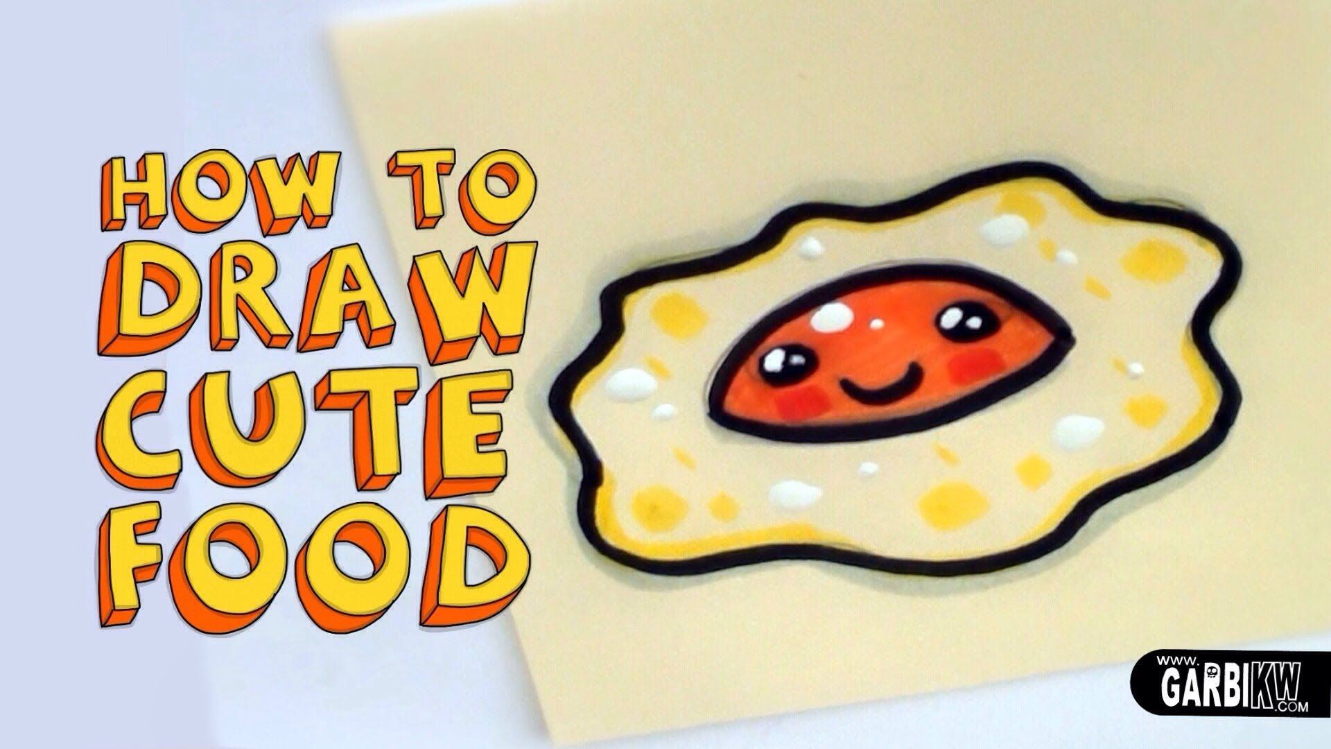 How To Draw a Cute Fried Egg - Kawaii Food - Easy Drawings ...