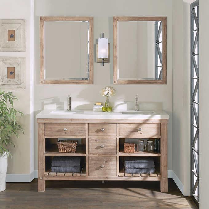 Elbe Rustic 60 Double Sink Vanity By Northridge Home Double Sink Vanity Vanity Sink Single Sink Vanity