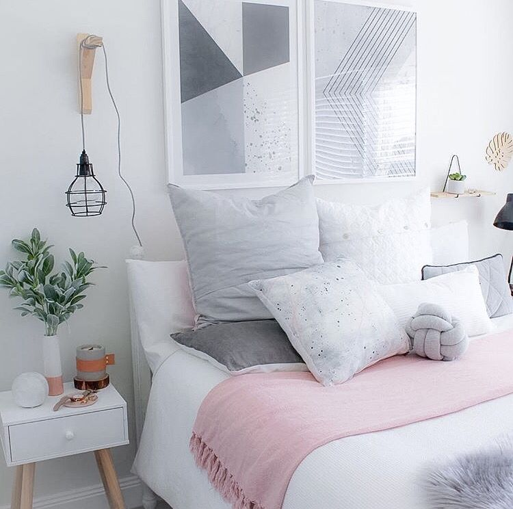 Light Pink Gray Bedroom : Harluxe immy and indi interior inspo h o m e