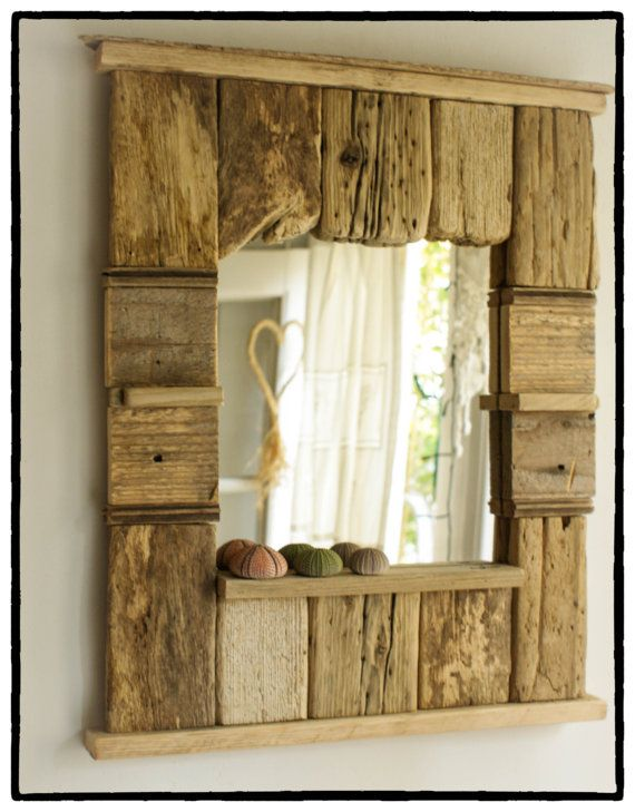 decorative mirror driftwood mirror beach cottage style mirror rh pinterest com  white cottage style mirrors
