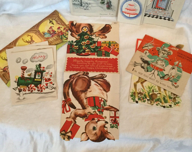 Craft Supplies Christmas Part - 31: Christmas, Vintage Christmas Cards, Vintage Holiday Cards, Christmas  Ephemera, Holiday Decor,