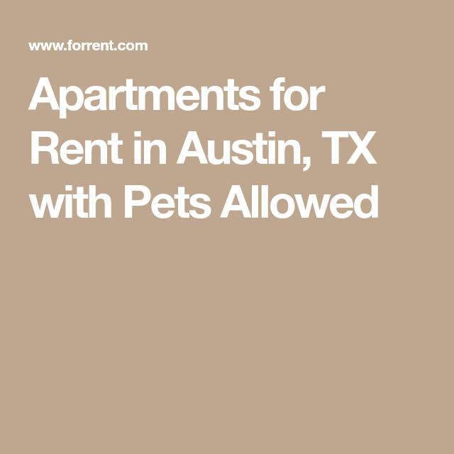 Apartments In Austin Tx Pet Friendly