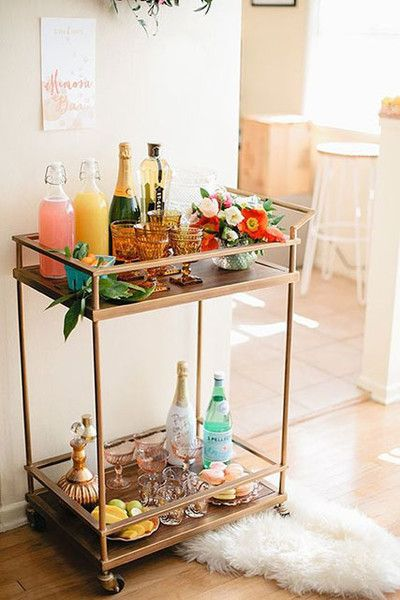 DIY Drink Station - Pinterest Predicts 2017's Top Wedding Decor - Photos SurLaVintage.com