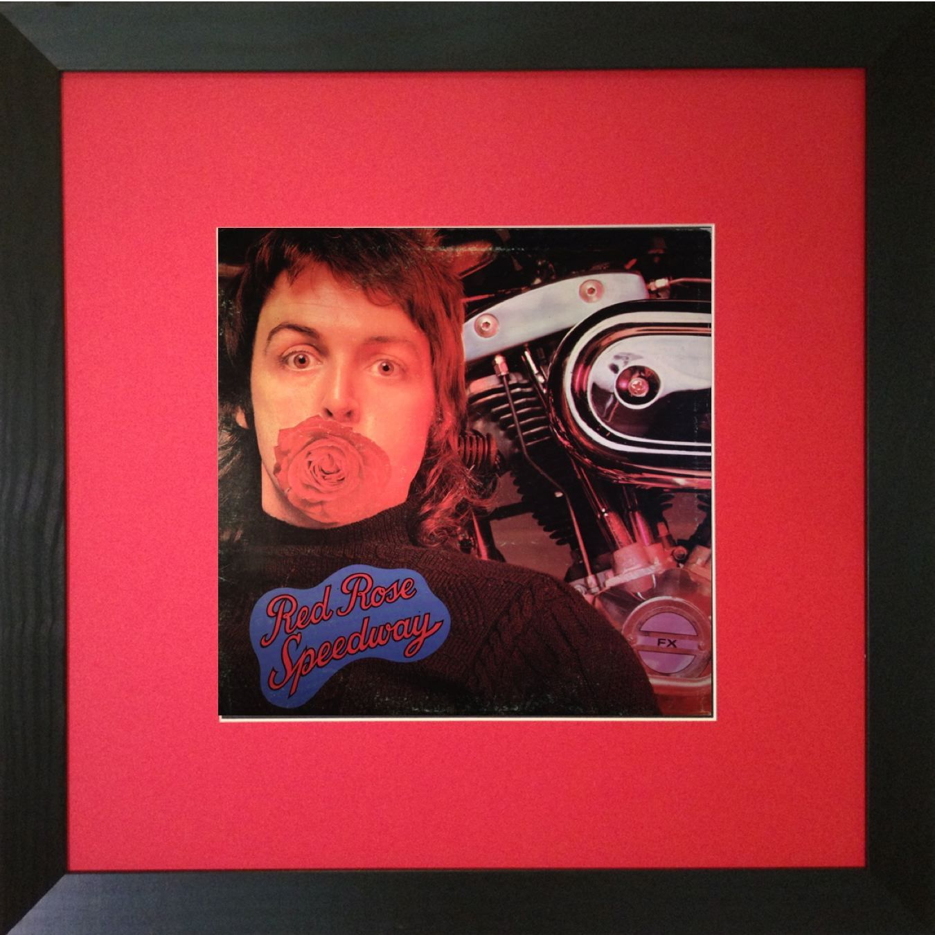 Mount Vinyl Paul McCartney Wings Red Rose Speedway Framed Album GBP99