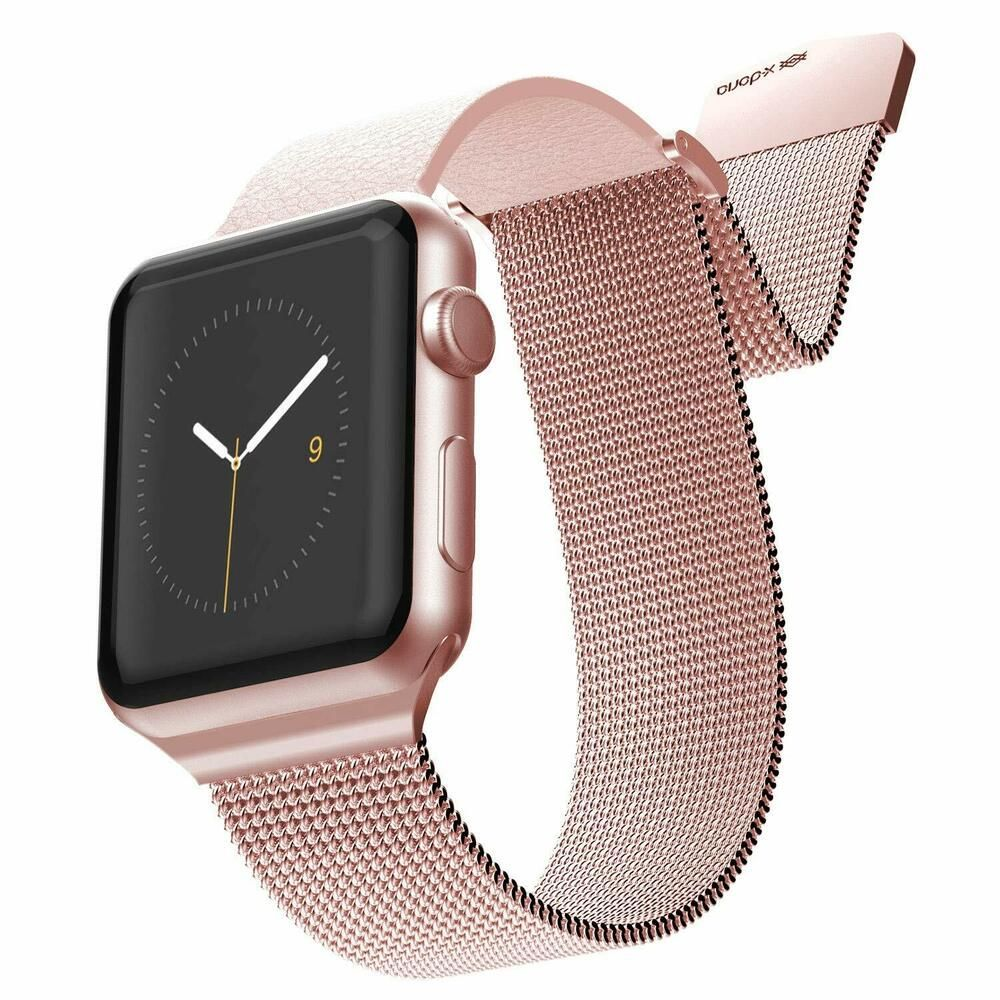 X Doria Hybrid Mesh Apple Watch Replaceable Smartwatch Band For 38mm And 40mm Applewatch A Apple Watch Fashion Rose Gold Apple Watch Apple Watch Bands Women