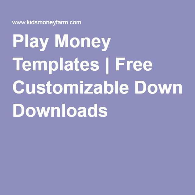 Play Money Templates Free Customizable Downloads Ananias and - free money templates