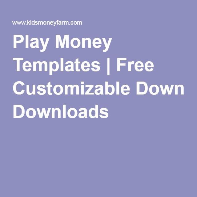 Play Money Templates