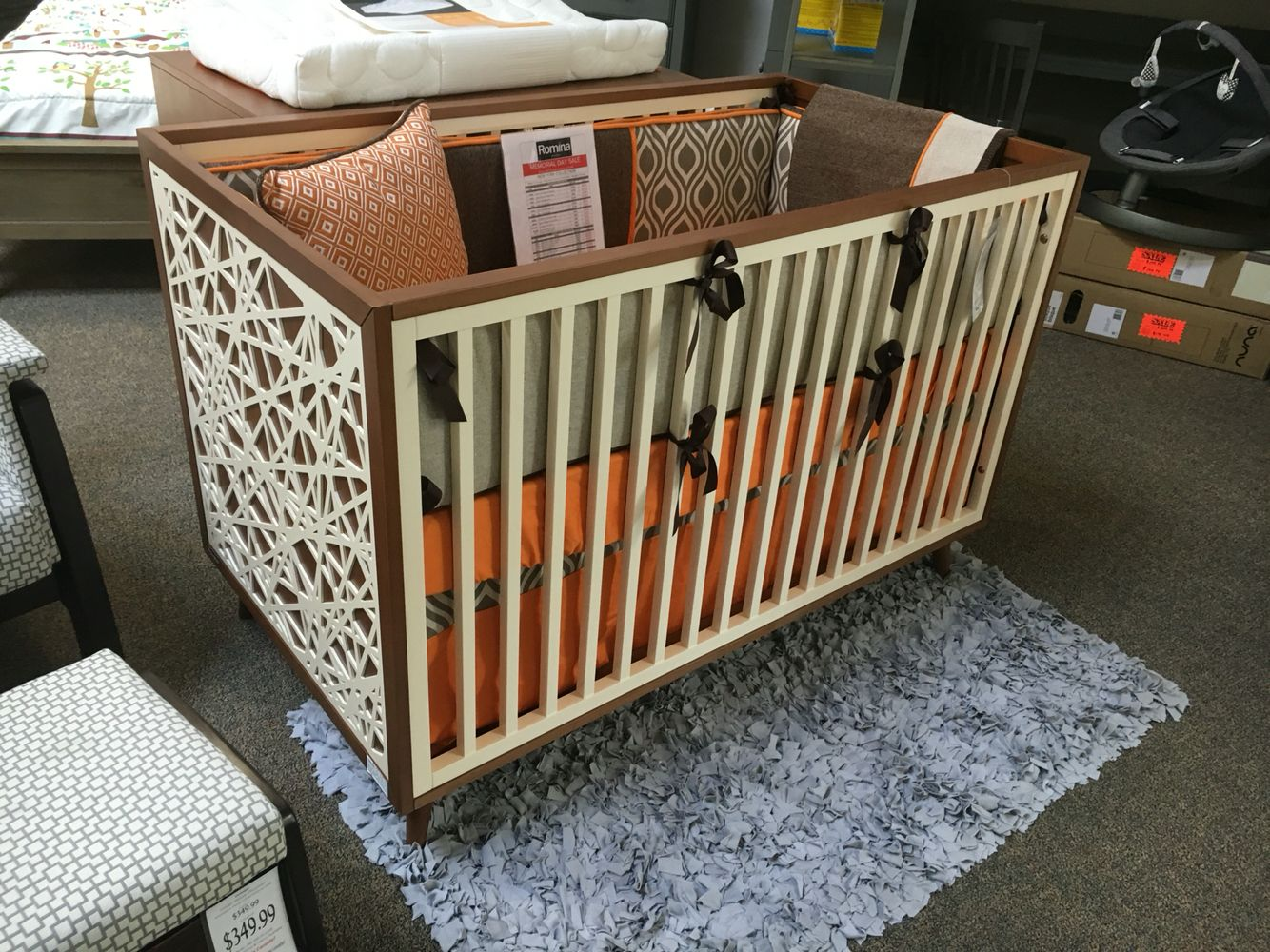 best white romina good crib in convertible cribs with karisma washedgrey cleopatra solidwhite