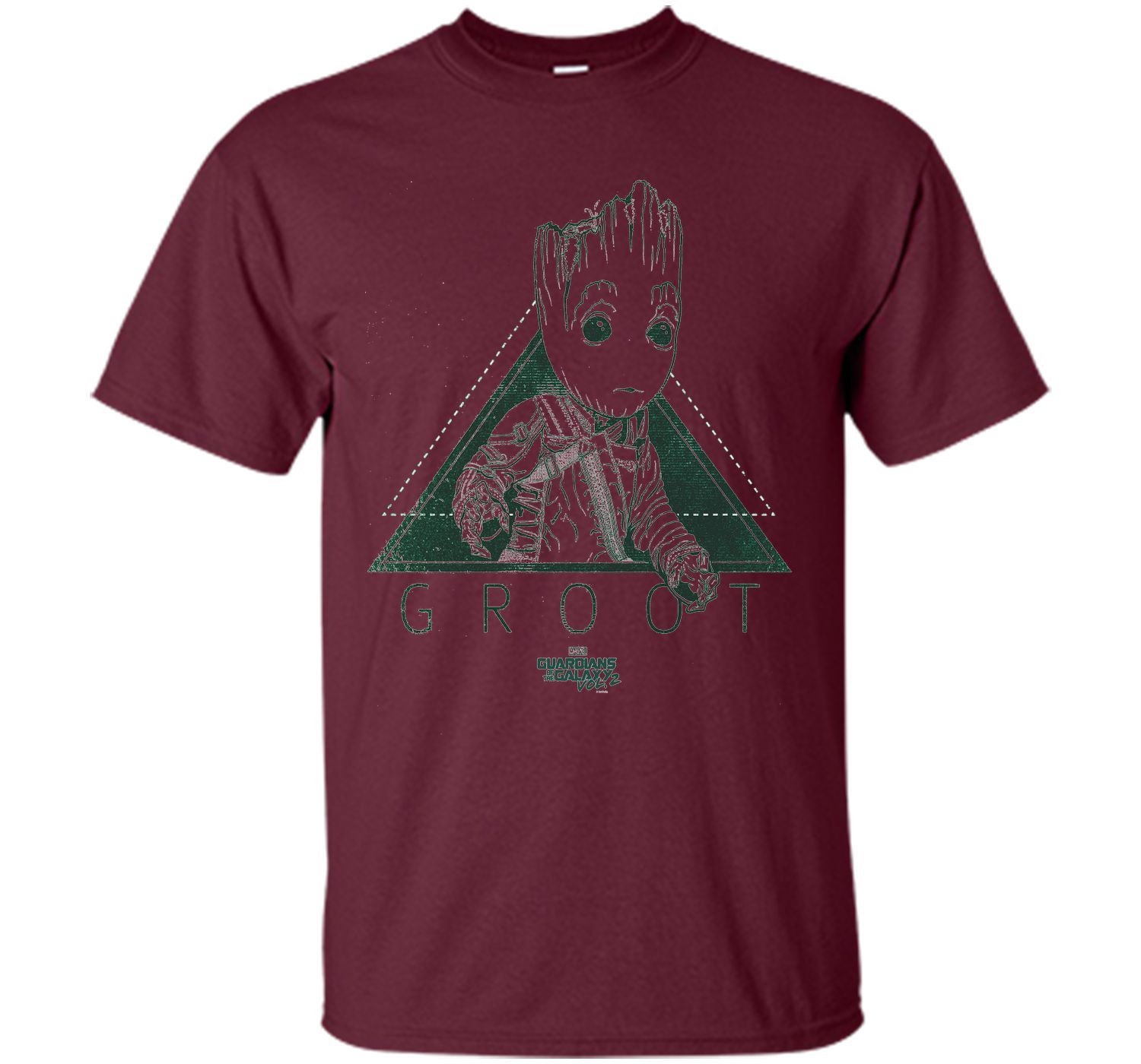 Marvel Groot Guardians of Galaxy 2 Triangle Graphic T-Shirt