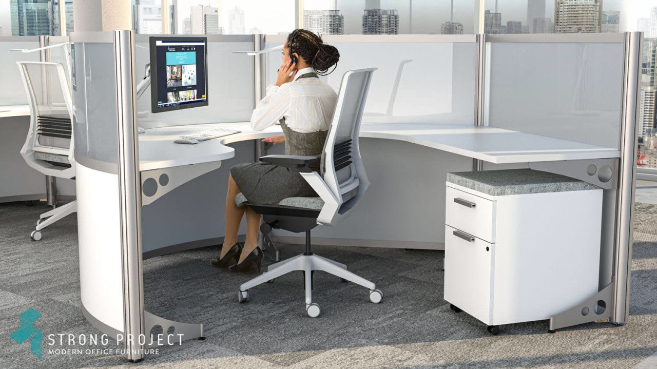 Impart The Image Of A Forward Thinking Innovative Brand With These Modular Curv Affordable Office Furniture Office Furniture Design Corporate Office Furniture