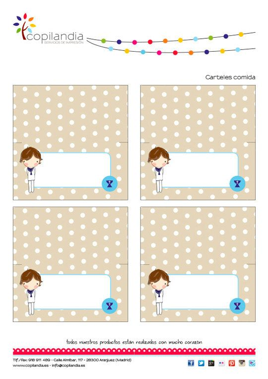 First Communion Printable Kit | Comunion niño, Comunión y Eres unico