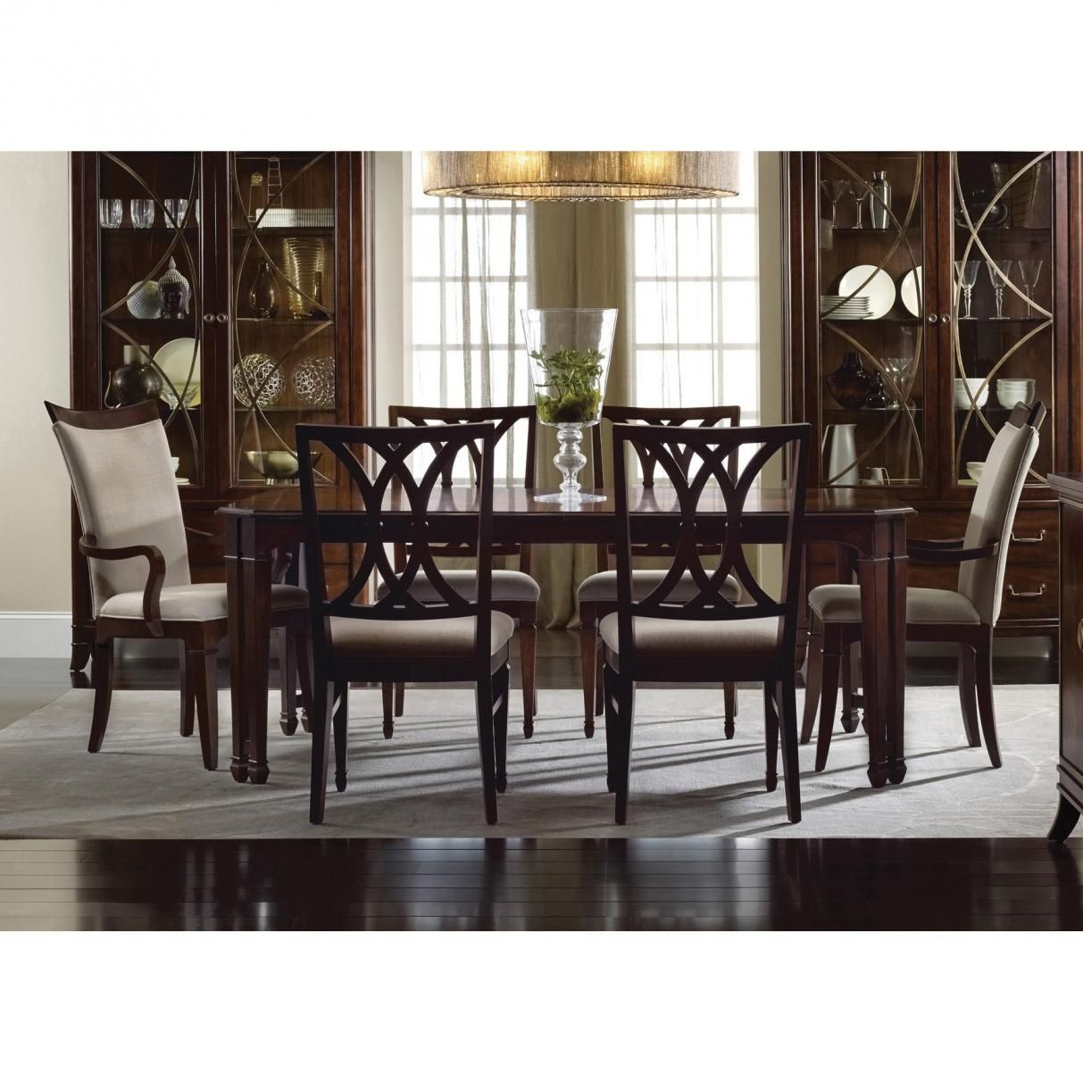 hooker furniture palisade 7 piece rectangular dining set home