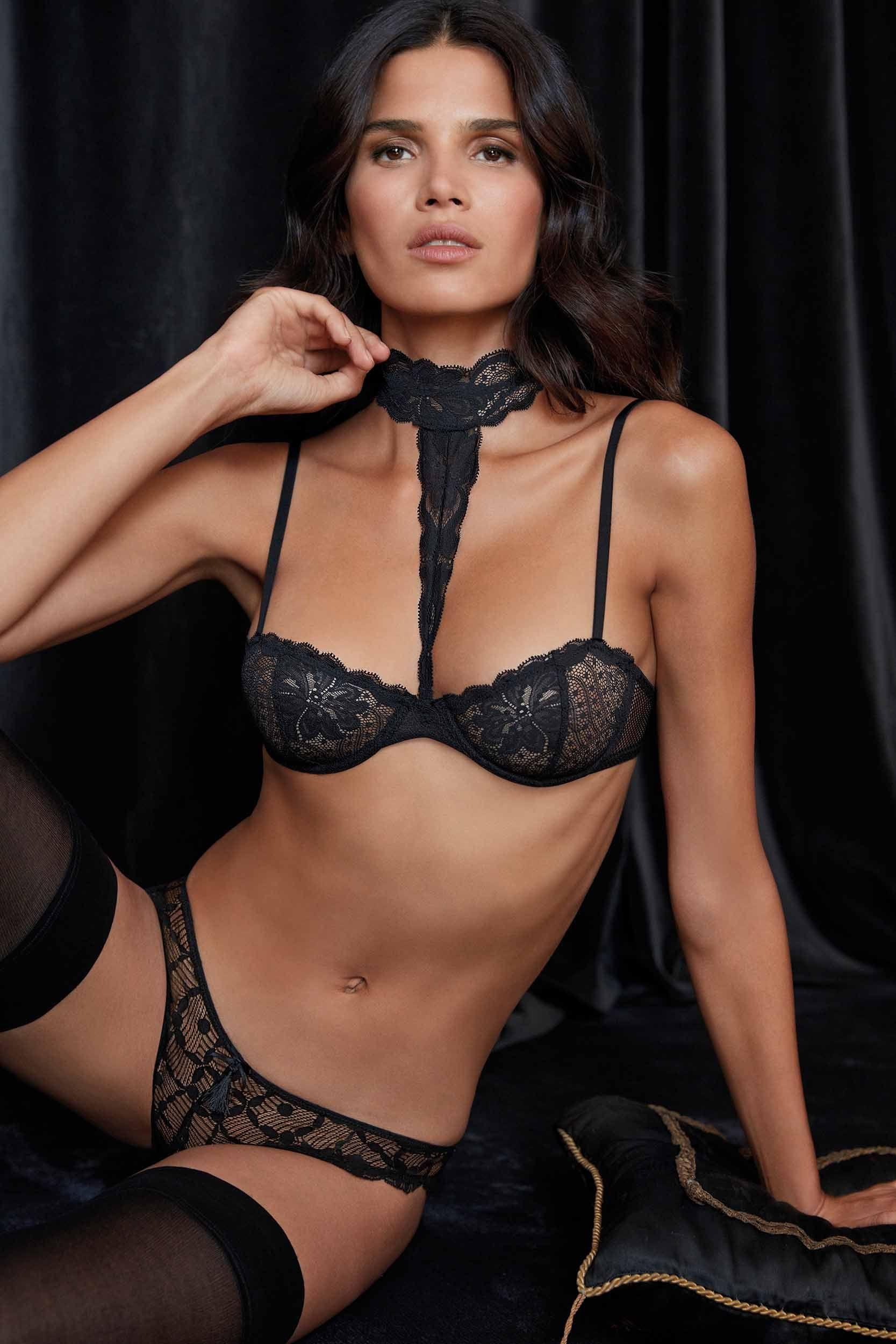 7086326df55d2 WS♡ Lace choker balconette bra Petite Lingerie, Plus Size Lingerie, Sexy  Lingerie,