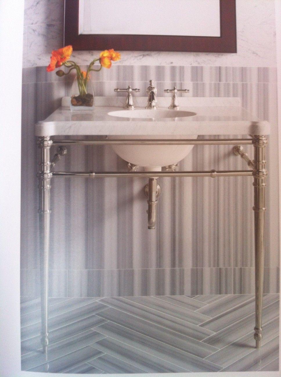 Vanity Unit - Traditional - Kallista | 52 Harley St | Pinterest ... Badezimmer Graue Und Mediterrane Fliesen