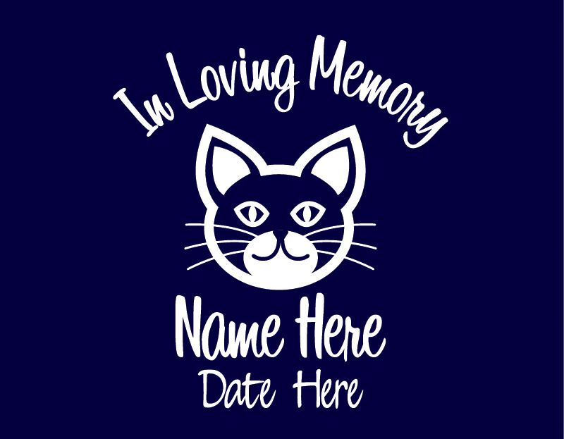 In Loving Memory Of Cat Custom Car Vinyl Decal Window Sticker - Cat custom vinyl decals for car windows