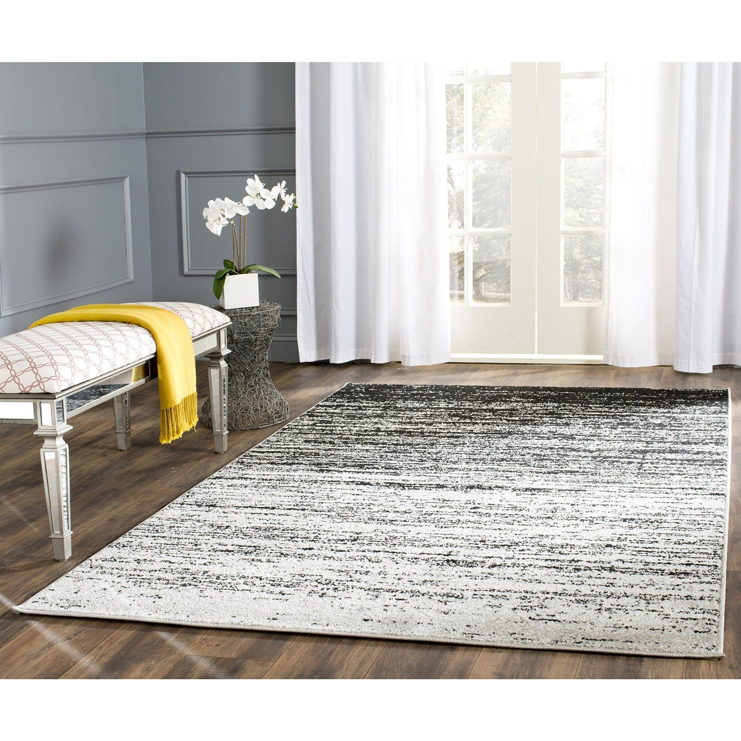 Amazon Safavieh Adirondack Collection ADR113A Silver And Black Area Rug 6 Feet