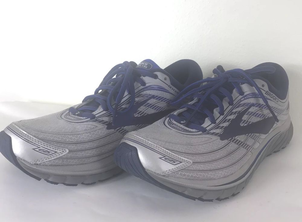 6c5646a7a10 Brooks Glycerin 15 Running Shoes Silver Navy Blue Men Size 10